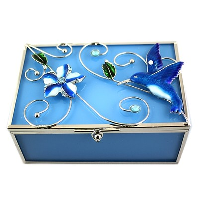 Blue Humming Bird Jew Box