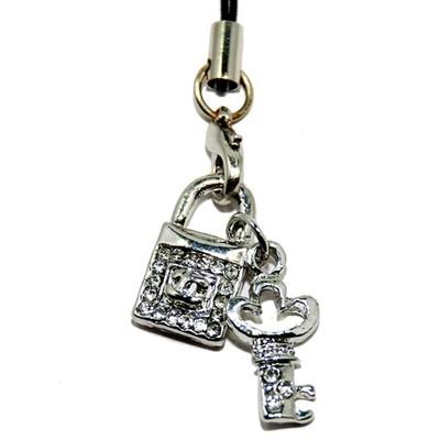 Key Lock Charm for Bracelet/Necklace/Cellphone