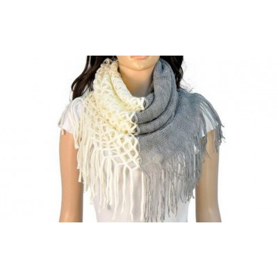 Infinity Tassels Scarf - White Color