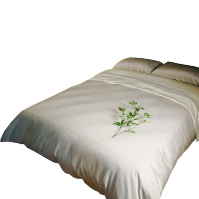 Bamboo Duvet Cover - Queen - Wild Rice/Ivory