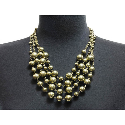 Multistrand Statement Necklace & Earring Set