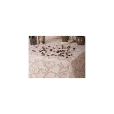 St. Pierre Curia Linen/Cotton Tablecloth, Ecru