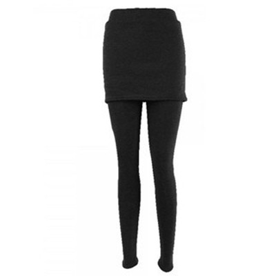 2-in-1 Skirt Legging - Black Color