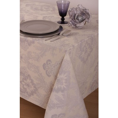 St. Pierre Toledo 100% Cotton Tablecloth, Silver Grey