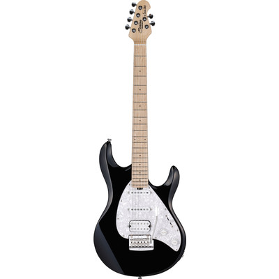 Sterling S.U.B. SILO3 Electric Guitar with bag, Black with Maple Neck - Sterling