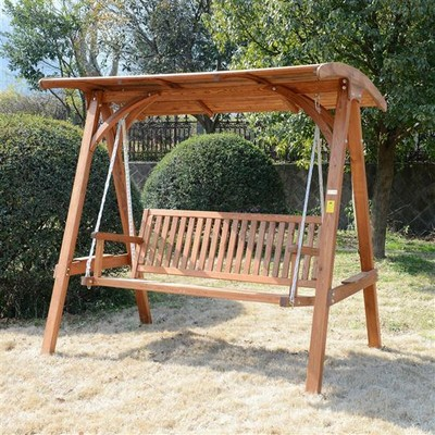 Solid Wood Porch Swing