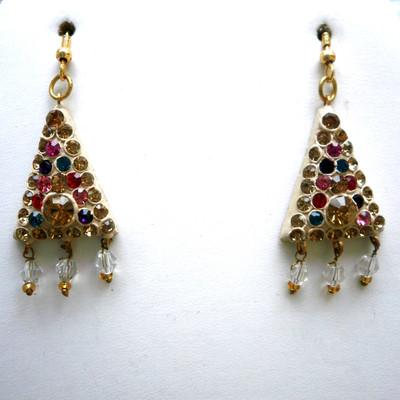 Triangular Dangle Earrings + FREE Gift