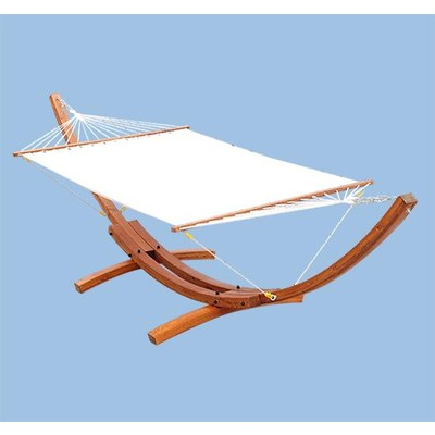 Solid Wood Arc Hammock and Stand