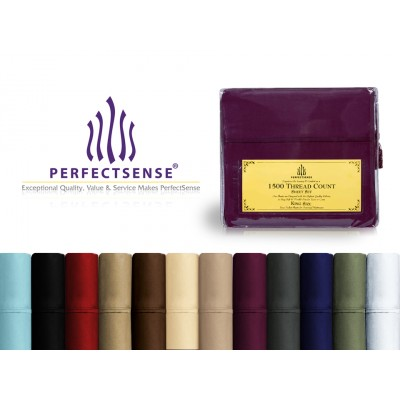 New 1500 Thread Count Luxury Soft Deep Pocket & Wrinkle-Free 4pc Bed Sheet Sets by PerfectSense