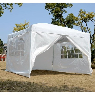10' x 10' Pop-Up Tent - White