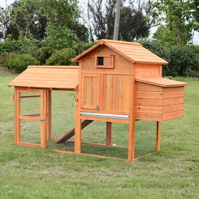 7 ft. Wood Chicken Coop