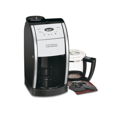 Cuisinart-Refurbished Grind & Brew 12-Cup Automatic Coffeemaker (DGB-550BK), Manufacturer Recertified