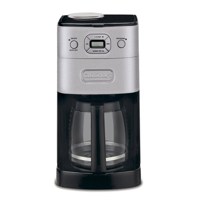Cuisinart-Refurbished DGB625BC Grind & Brew Coffee Maker, Brushed Black-Manufacturer Recertified with 90 days Warranty