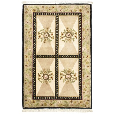 "eCarpetGallery Hand-knotted Opulence Cream Rug - 3'0"" x 5'0"""