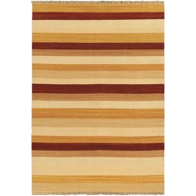 """eCarpetGallery Flat-weave Fiesta Orange Kilim - 5'7"""" x 7'10"""""""