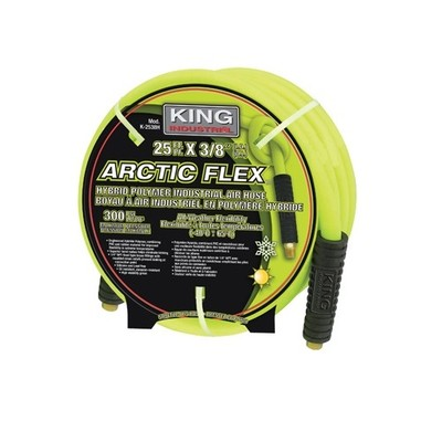 King Industrial ARCTIC FLEX 3/8-inch x 25-ft Hybrid Industrial Air Hose