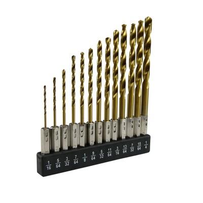 Neiko 13-Piece Quick Change Hex Shank Cobalt Coated Drill Bit Set