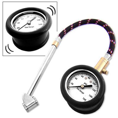 Neiko Dial Tire Gauge with Flex Hose