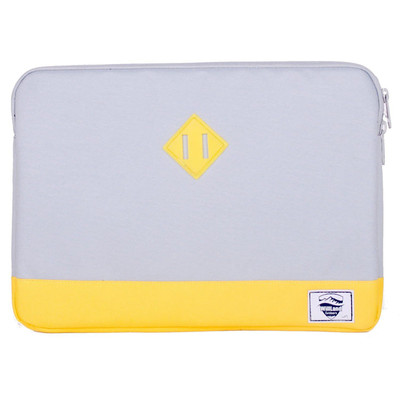 "Classica 15.4"" Laptop Sleeve - Grey/Yellow"