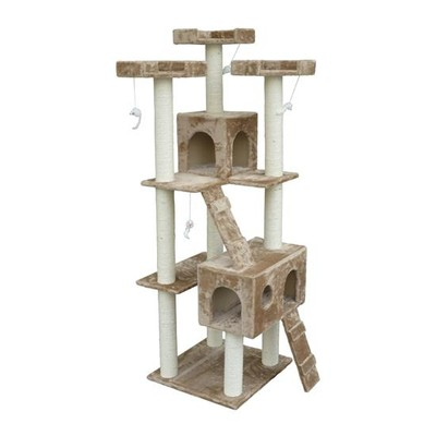"71"" Cat Tree with 2 Condos"