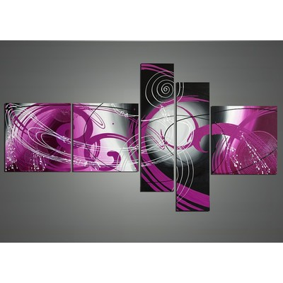 Large Purple Home Decor Abstract Painting - 66 x36 in