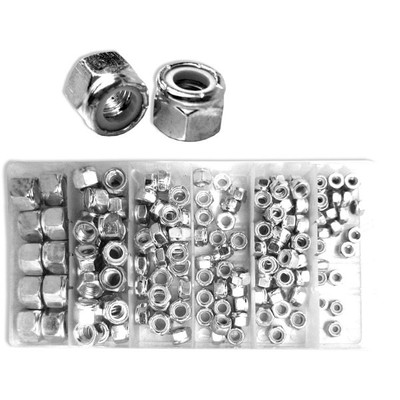 Neiko 150-Piece Nylon Locknut Set