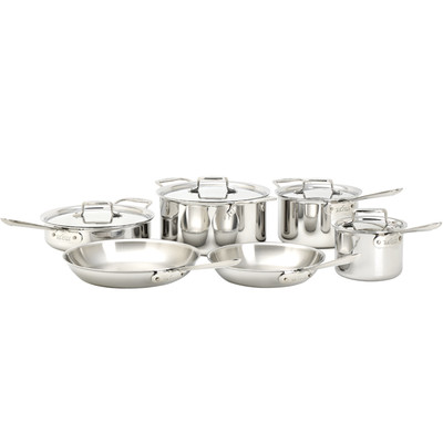 10 Piece Cookware Set - All-Clad Polished D5