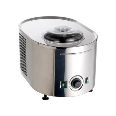 Stainless Steel Ice Cream Maker with Compressor