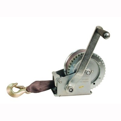 1200-lb Hand Winch with Strap