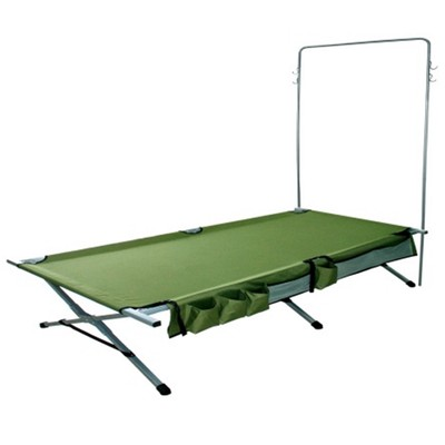 Steel Frame Camp Cot with Tree