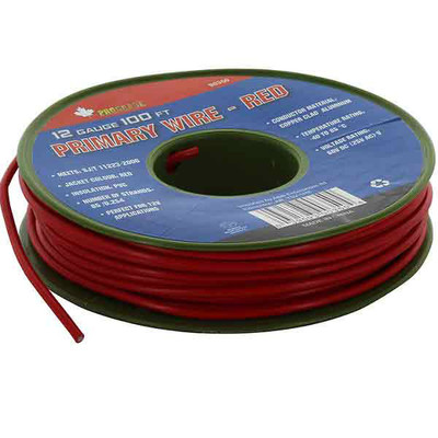 12 Gauge 100 ft Primary Wire Red