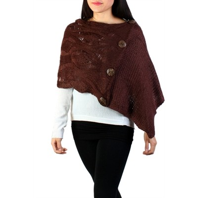 Knit Cape With Button