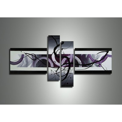 Abstract Purple Oil Painting -
