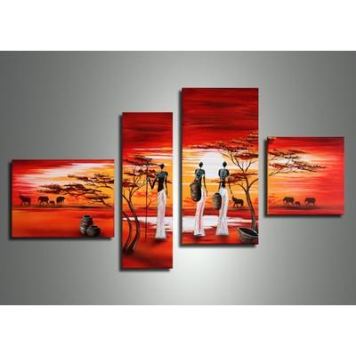 African Art - 55 x 30 in
