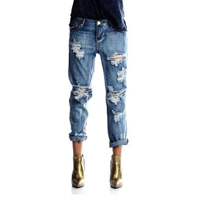 One Teaspoon AWESOME BAGGIES LOWRISE BOYFRIEND FIT IN COBAIN WASH