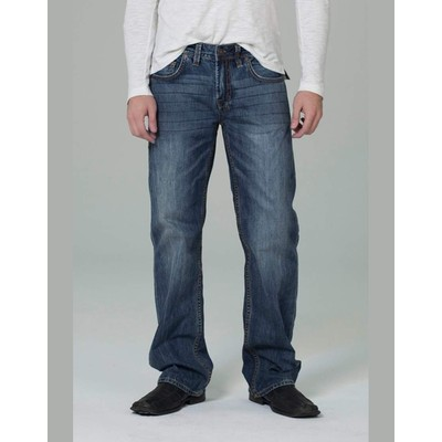 Buffalo Jeans TRAVIS MIDRISE LOOSE FIT AUTHENTIC DISTRESSED IN DARK
