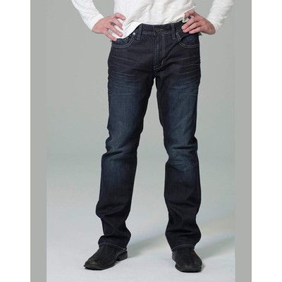 Buffalo Jeans DRIVEN MIDRISE STRAIGHT LEG RUBBED AND WORKED IN DARK