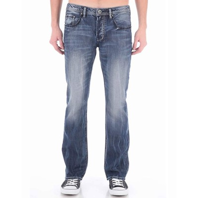 Buffalo Jeans KING LOWRISE LOOSE FIT WITH WHITE BACK PACKET IN LIGHT