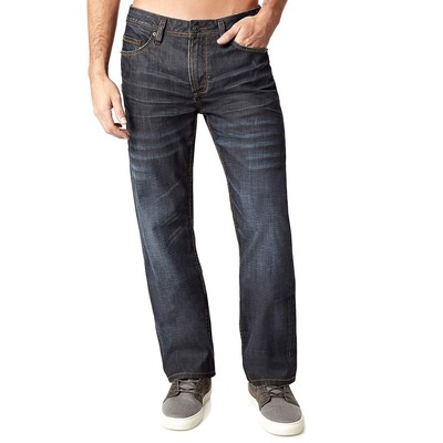 Buffalo Jeans DRIVEN MIDRISE STRAIGHT LEG IN DARK RINSE COATED