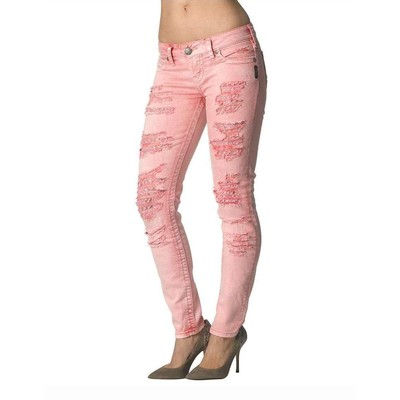 Silver Jeans CAMDEN WITH RIPS IN RASPBERRY