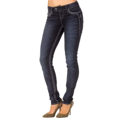 Silver Jeans TUESDAY MIDRISE SKINNY IN DARK WASH
