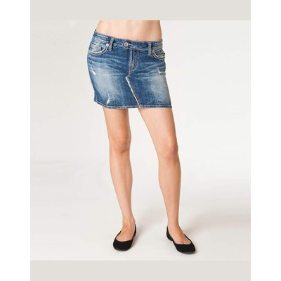 Silver Jeans RAVI MINI SKIRT WITH ABRASIONS