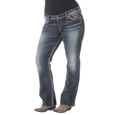 Silver Jeans TUESDAY PLUS SIZE LOWRISE BOOTCUT IN DARK WASH