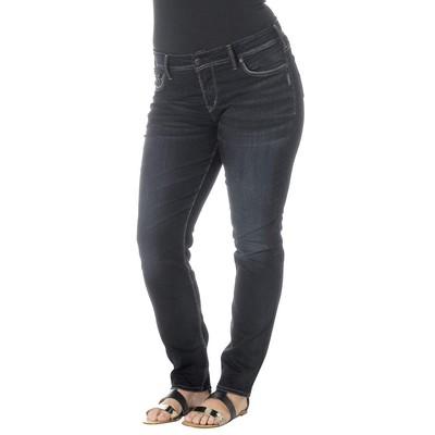 Silver Jeans SUKI PLUS SIZE MIDRISE SKINNY IN DARK RINSE