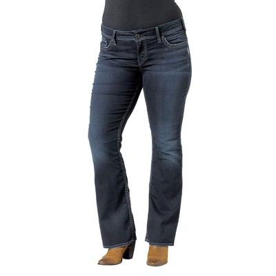 Silver Jeans SUKI PLUS SIZE HIGHRISE BOOTCUT IN DARK RINSE