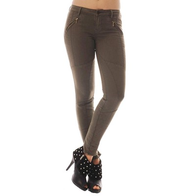 Buffalo Jeans FIRENZE MIDRISE SKINNY ANKLE MOTORCYCLE IN OLIVE