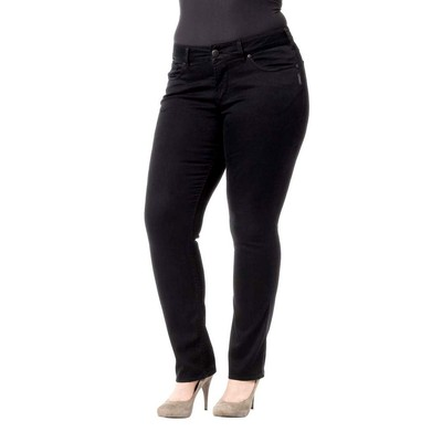 Silver Jeans SUKI PLUS SIZE MIDRISE SLIM IN BLACK