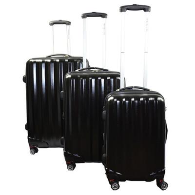 Paderno Travellite 3pcs Luggage Set -Black