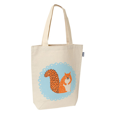 UK design fairtrade tote - mr. squirrel