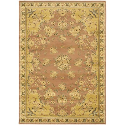 "eCarpetGallery Machine made Royale Beige Rug - 5'3"" x 7'6"""